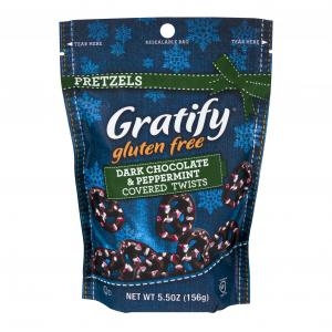 Gratify Pretzels Dark Chocolate & Peppermint Twists