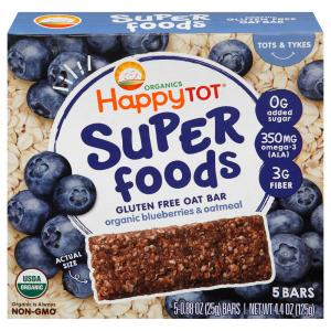 Happy Tot Super Foods Blueberries & Oatmeal Bars
