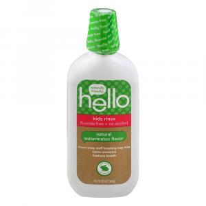 Hello Kids Rinse Organic Watermelon Flavor Mouthwash
