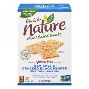 Back to Nature Gluten Free Sea Salt & Black Pepper Crackers