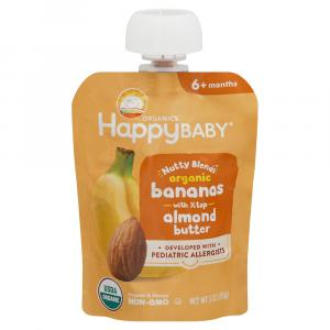 Happy Baby Organic Nutty Blends Bananas with Almond Butter