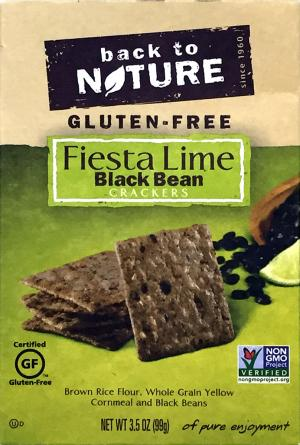 Back To Nature Gluten-Free Fiesta Lime Black Bean Crackers