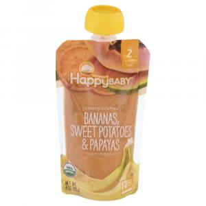 Happy Baby Stage 2 Bananas, Sweet Potatoes & Papayas