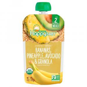 Happy Baby Stage 2 Banana, Pineapple, Avocado & Granola