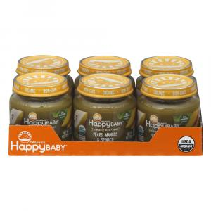 Happy Baby Stage 2 Baby Food Pears, Mangos & Spinach