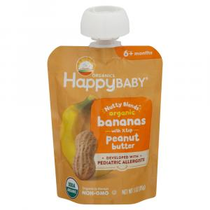 Happy Baby Organic Nutty Blends Bananas with Peanut Butter
