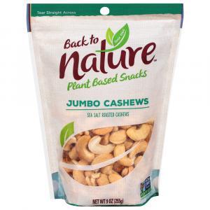 Back to Nature Sea Salt Roasted Jumbo Cashews