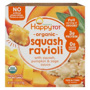 Happy Tot Organic Veggies Bowl Squash Ravioli