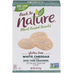 Back to Nature Gluten Free White Cheddar Crackers