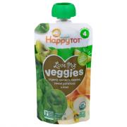 Happy Tot Organic Love My Veggies Spinach, Apple