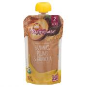 Happy Baby Organic Baby Food Bananas,Plums and Granola