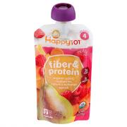 Happy Tot Organic Fiber and Protein Raspberry Squash