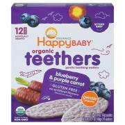 Happy Baby Blueberry & Purple Carrot Gentle Teethers Wafers
