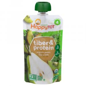 Happy Tot Stage 4 Organic Fiber & Protein Pears, Kiwi & Kale