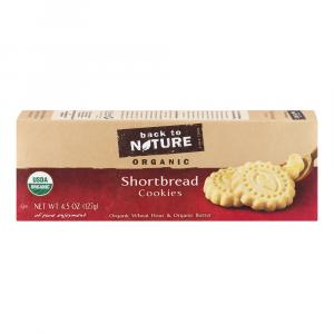 Back to Nature Organic Shortbread Cookies