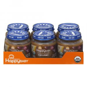 Happy Baby Stage 2 Jar Pears & Prunes Organic Baby Food