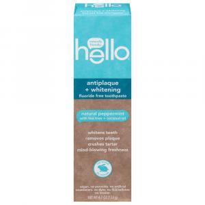Hello Antiplaque + Whitening Fluoride Free Peppermint