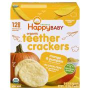 Happy Baby Organic Mango Pumpkin Teethers Crackers
