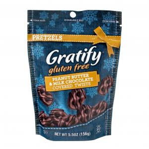 Gratify Pretzels Peanut Butter & Chocolate Covered Twists