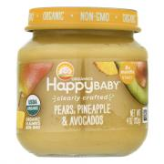 Happy Baby Stage 2 Baby Food Pears, Pineapple & Avocados