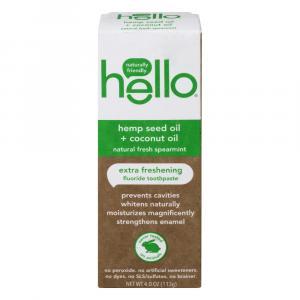 Hello Hemp Seed Oil + Coconut Oil Fluoride Toothpaste