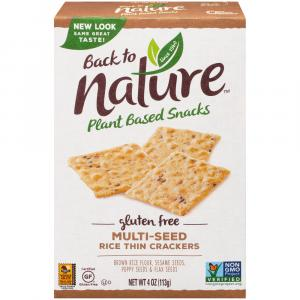 Back To Nature Gluten Free Multiseed Crackers