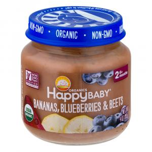 Happy Baby Stage 2 Baby Food Bananas,Blueberries & Beets