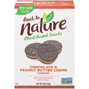 Back To Nature Chocolate & Peanut Butter Creme Cookies