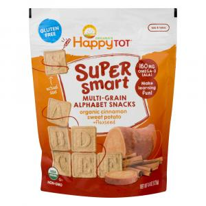 Happy Tot Gluten Free Super Smart Multi-Grain Alphabet Snack