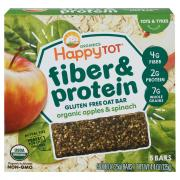 Happy Tot Organic Fiber & Protein Apple Spinach Soft Oat Bar