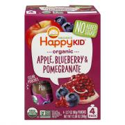 Happy Kid Organic Apple, Blueberry & Pomegranate Pouches