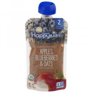 Happy Baby Stage 2 Baby Food Blueberries & Oats