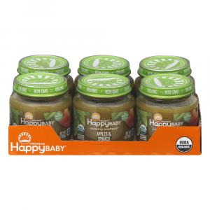 Happy Baby Stage 2 Baby Food Apple & Spinach