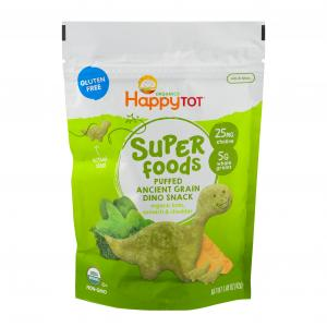 Happytot Super Foods Dino Snack Organic Kale, Spinach