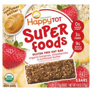 Happy Tot Organic Super Foods Bananas, Strawberries