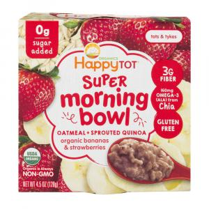 Happy Tot Organic Super Morning Bowl Oatmeal Sprouted Quinoa