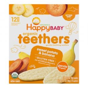 Happy Baby Sweet Potato & Banana Gentle Teethers Wafers