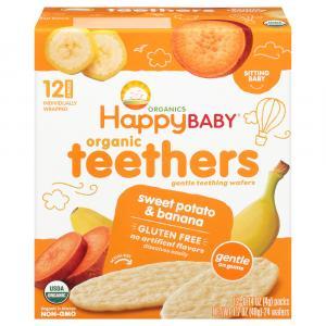 Happy Baby Sweet Potato & Banana Gentle Teethers Wafers