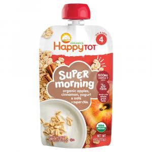 Happy Tot Stage 4 Organic Apples, Cinnamon, Yogurt & Oats