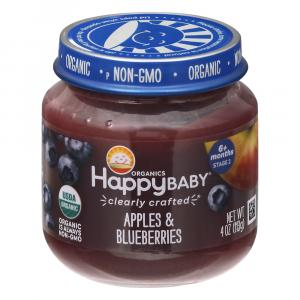 Happy Baby Stage 2 Jar Apple & Blueberry