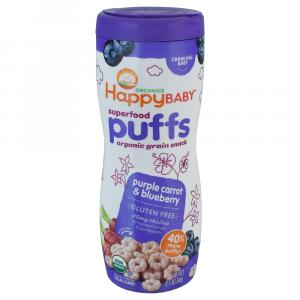Happy Baby Organic Purple Carrot & Blueberry Superfood Puffs