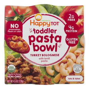Happy Tot Organic Toddler Pasta Bowl Turkey Bolognese
