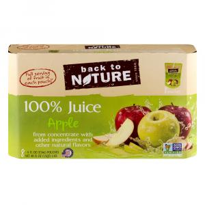 Back To Nature 100% Apple Juice