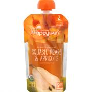 Happy Baby Stage 2 Baby Food Squash, Pears & Apricots