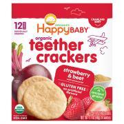 Happy Baby Organic Strawberry Beet Teethers Crackers