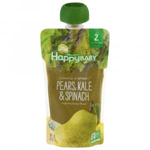 Happy Baby Stage 2 Pears, Kale & Spinach Organic Baby Food