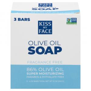 Kiss My Face 86% Pure Olive Oil Bar Soap
