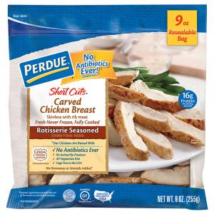 Perdue Short Cuts Rotisserie Seasoned Carved Chicken Breast