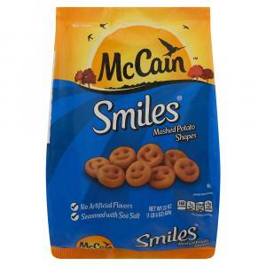 Mccain Smiles Mashed Potato Shapes