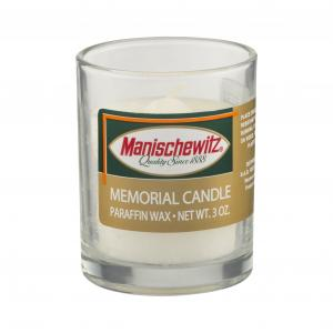 Manischewitz Memorial Glass Candle